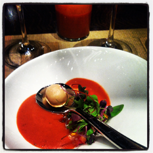 Julian Serrano lobster gazpacho