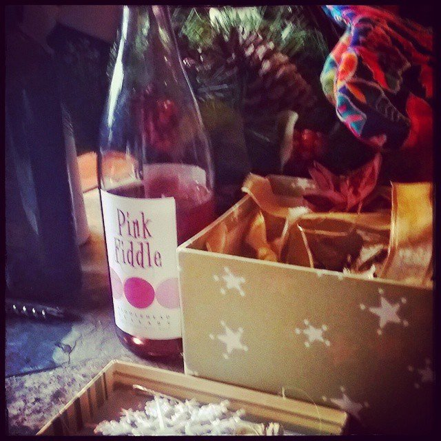Holiday decorating with a little Pink Fiddle! Thanks @fiddleheadcellars
