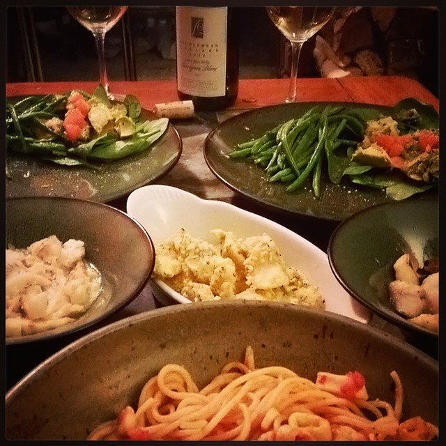 Christmas continuing the feast of the 7 fishes with a…
