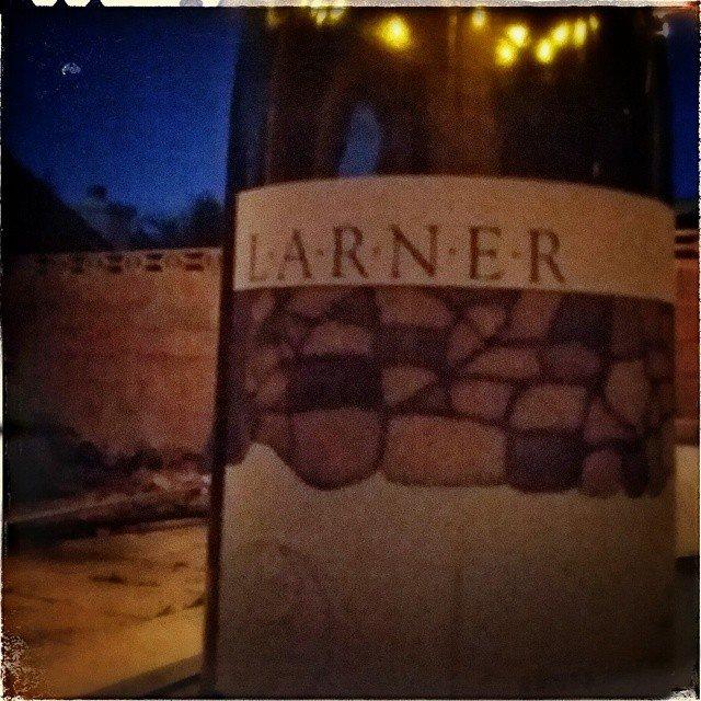 2009 @larnerwine syrah on the patio. @ballardcanyon
