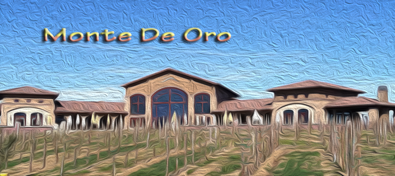 Monte De Oro depcicted in oil