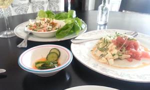 Poppy Den Devil Tuna & Tabouleh lettuce wrap