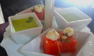 Watermelon & Pea Soup
