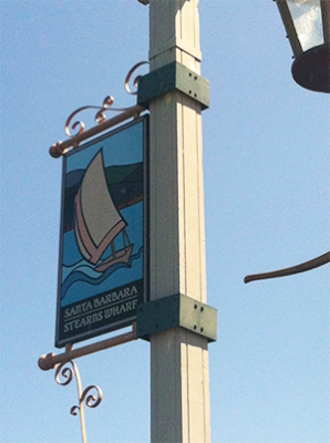 Stearn Wharf Sign
