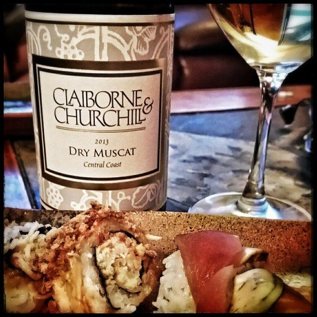 A dry muscat from claiborneandchurchill with some sushi tonight!
