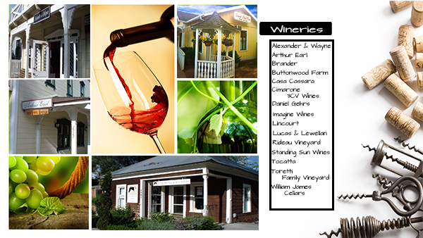 Some of the wineries of the Santa Ynez Wine Country Association