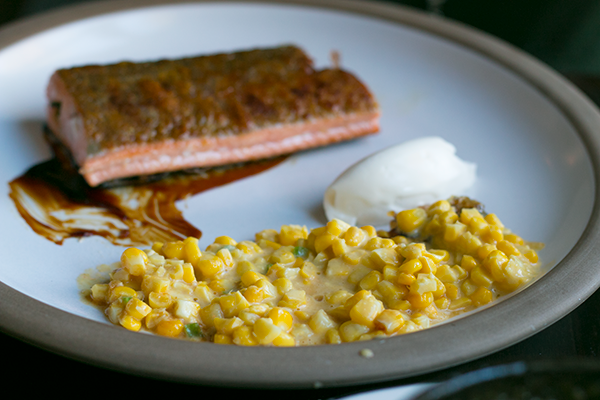 salmon-and-corn