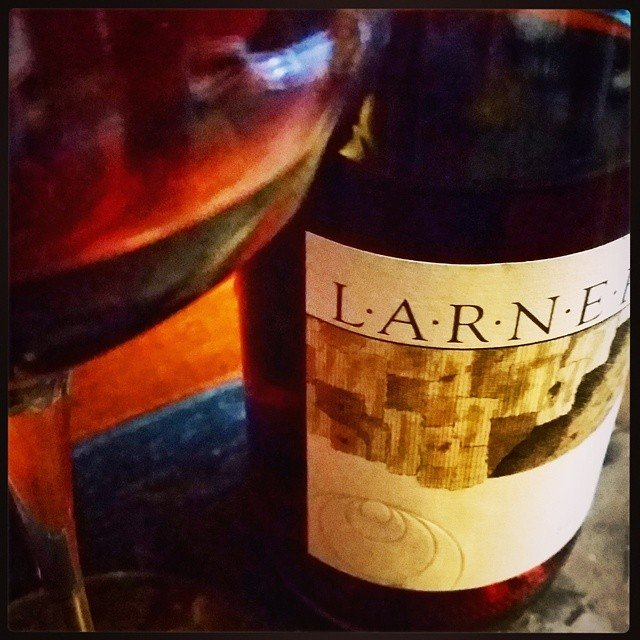 @larnerwine 2011 Rose in my glass tonight.  Channeling a little @ballardcanyon  tonight!