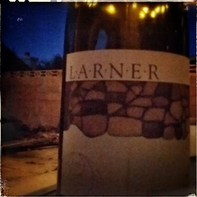 2009 @larnerwine syrah on the patio. @ballardcanyon