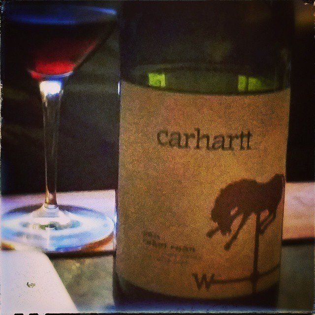 There's some 2011 Rebel Roan from @carharttvineyard in my glass tonight!