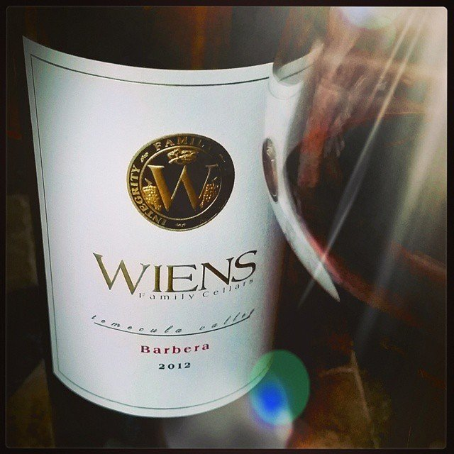 A lovely # Temecula Barbera from Wiens!