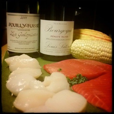 Ingredients for a Burgundy pairing