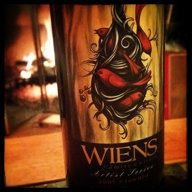 It's vacation!  It's a 2 bottle night!  On to a @wienscellars 2007 Crowded!