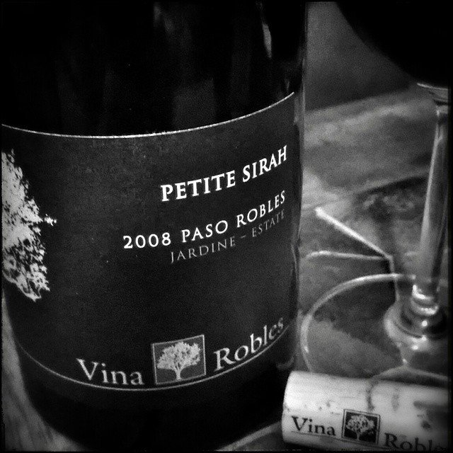 Deep rich smooth..@vinarobles 2008 Petite Sirah.  Channeling a little Paso tonight.