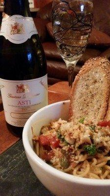 Spaghetatta Mezzonotte and Asti