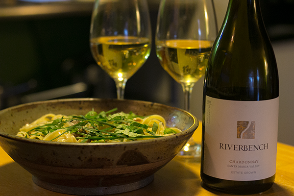 Chanterelle & Fava Tagliatelle with Riverbench Chardonnay